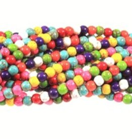 "Magnesite Dyed Multi : 6mm Round 15.5"" Strand"