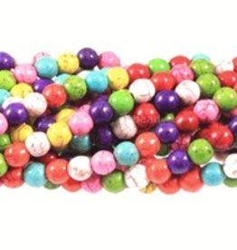 "Magnesite Dyed Multi : 8mm Round 15.5"" Strand"