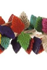 Magnesite Dyed Multi : 18x28mm Leaf