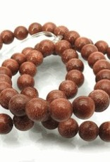 "Goldstone Brown : 8mm Round 15.5"" Strand"