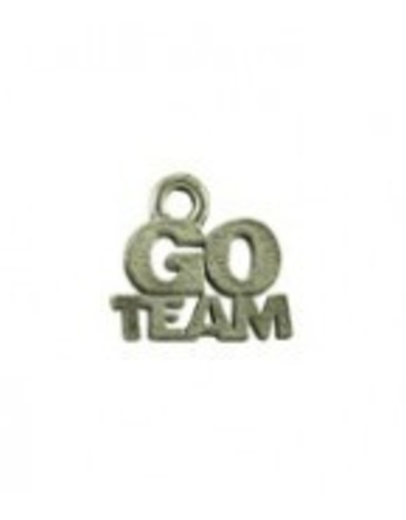 "1 PC ASP 12x12mm ""Go Team"" Charm"