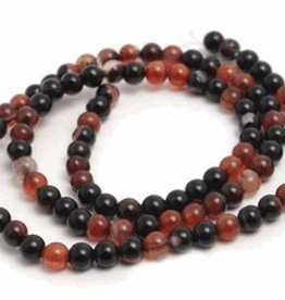 "Natural Agate : 4mm Round 15.5"" Strand"