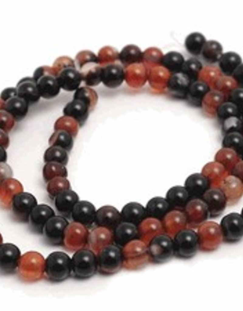 """Natural Agate : 4mm Round 15.5"""" Strand"""