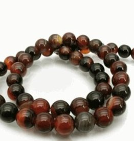 "Natural Agate : 6mm Round 15.5"" Strand"