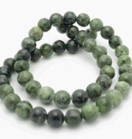 """Nephrite Jade : 4mm Round 15.5"""" Strand"""