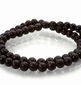 "Black Lava : 4mm Strand 15.5"" Strand"
