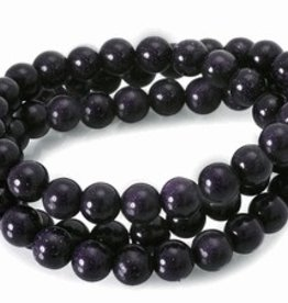 "Blue Goldstone : 6mm Round 15.5"" Strand"