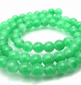 "Green Jade : 4mm Round 15.5"" Strand"