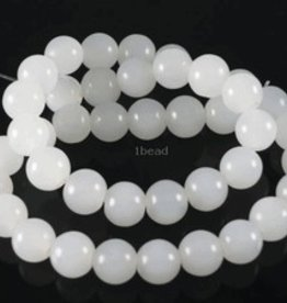 "White Quartz : 4mm Round 15.5"" Strand"