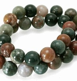 "Fancy Jasper : 8mm Round 15.5"" Strand"