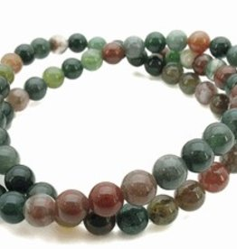 "Fancy Jasper : 6mm Round 15.5"" Strand"