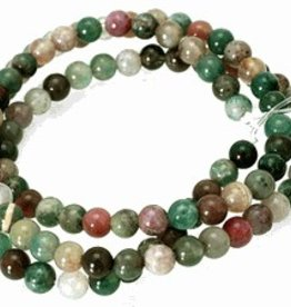 "Fancy Jasper : 4mm Round 15.5"" Strand"