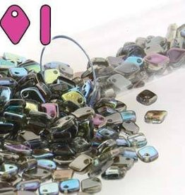 10 GM 1.5x5mm Dragon Scale : Crystal Graphite Rainbow (APX 260 PCS)