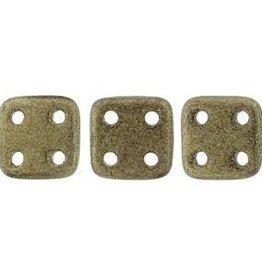 10 GM 6x6mm Quadratile : Metallic Suede Gold (APX 80 PCS)