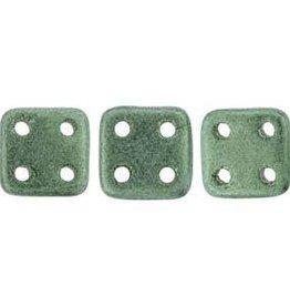 10 GM 6x6mm Quadratile : Metallic Suede Light Green (APX 80 PCS)