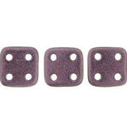 10 GM 6x6mm Quadratile : Metallic Suede Pink (APX 80 PCS)