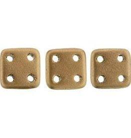 10 GM 6x6mm Quadratile : Matte Metallic Bronze Copper (APX 80 PCS)