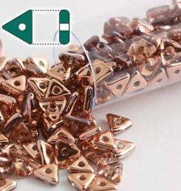 9 GM 4.6x1.3mm Tri Bead : Crystal Capri Gold (APX 215 PCS)
