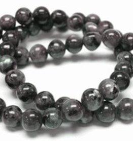 "Black Labradorite : 4mm Round 15.5"" Strand"
