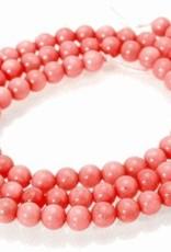"Pink Coral : 4mm Round 15.5"" Strand"