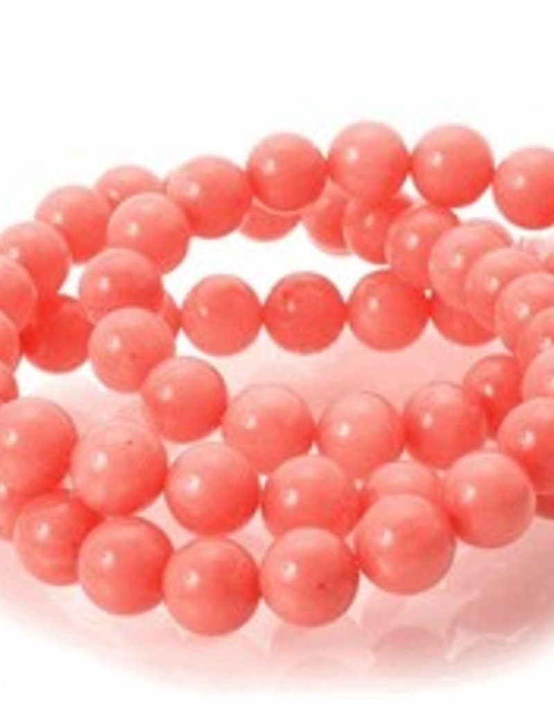 "Pink Coral : 6mm Round 15.5"" Strand"