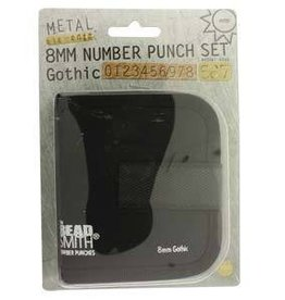 8mm Gothic Number Set 9-punches With Case
