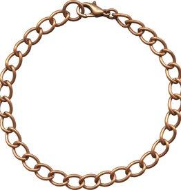 "1 PC ACP 7.5-8.5"" Curb Chain Bracelet"