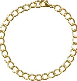 """1 PC GP 7.5-8.5"""" Curb Chain Bracelet"""