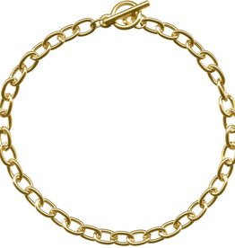 """1 PC GP 7.5"""" Oval Chain Bracelet with Toggle"""