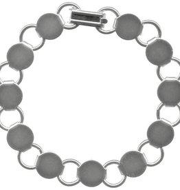 """1 PC ASP 7.25"""" Disc & Loop Bracelet"""