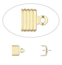10 PC GP 6x5mm Fold Over Cord End