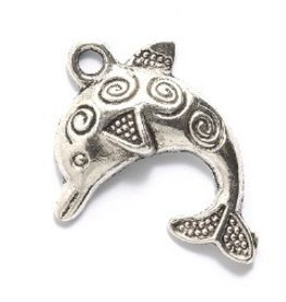 1 PC ASP 22x30mm Dolphin with Design Charm