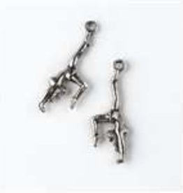 1 PC ASP 11x30mm Gymnast Charm
