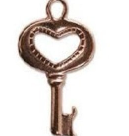 1 PC CP 15x25mm Key with Heart Charm