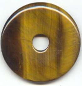 1 PC 40mm Tiger Eye Donut