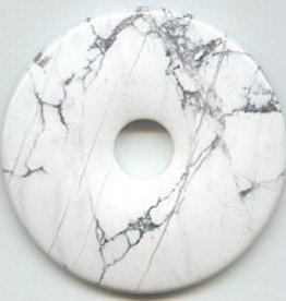 1 PC 50mm White Howlite Donut