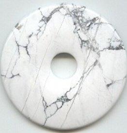 1 PC 50mm White Howlite Donut