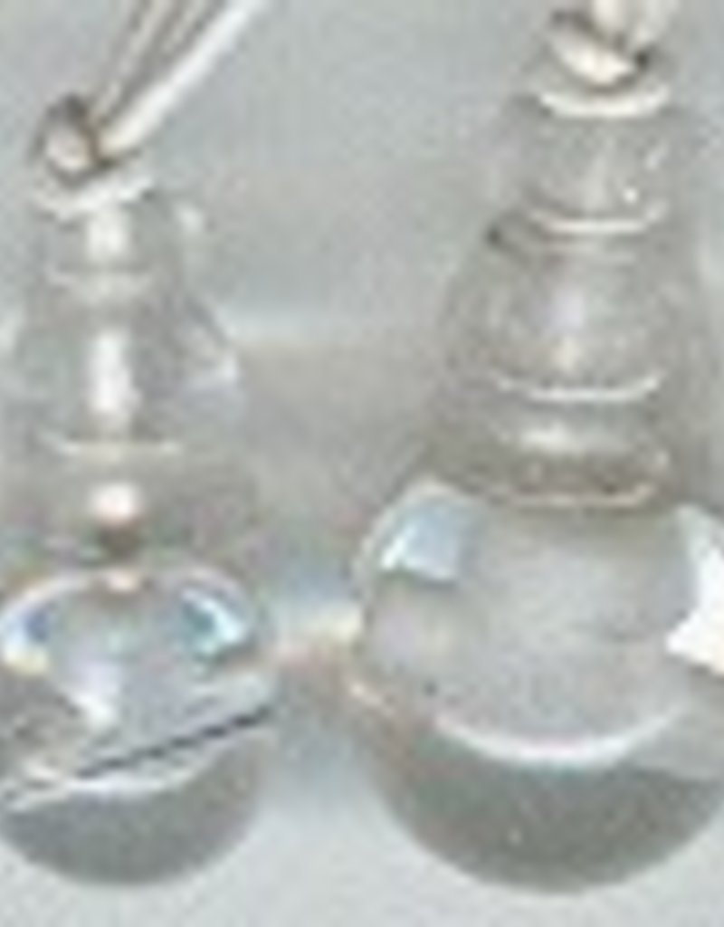 1 PC 10mm 3 Hole Crystal Quartz Guru/Mala Bead