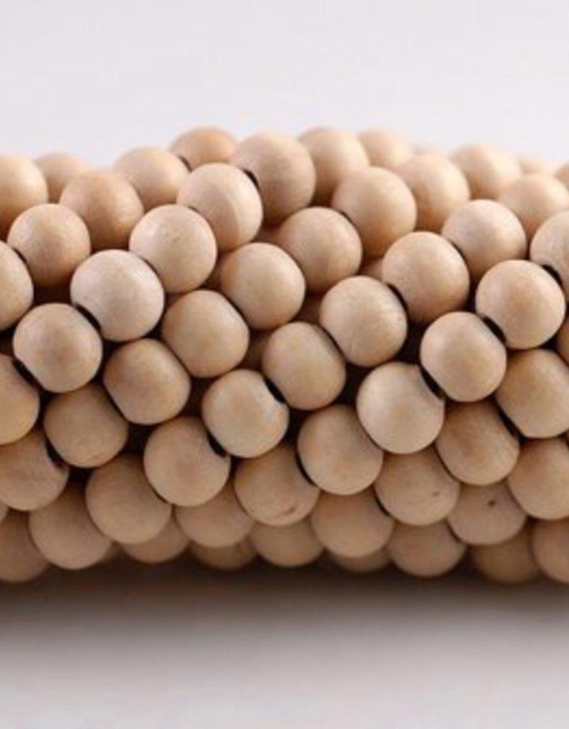 216 PC 6mm White Sandalwood Beads