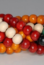 108 PC 8mm Painted Sandalwood Mix Color Beads