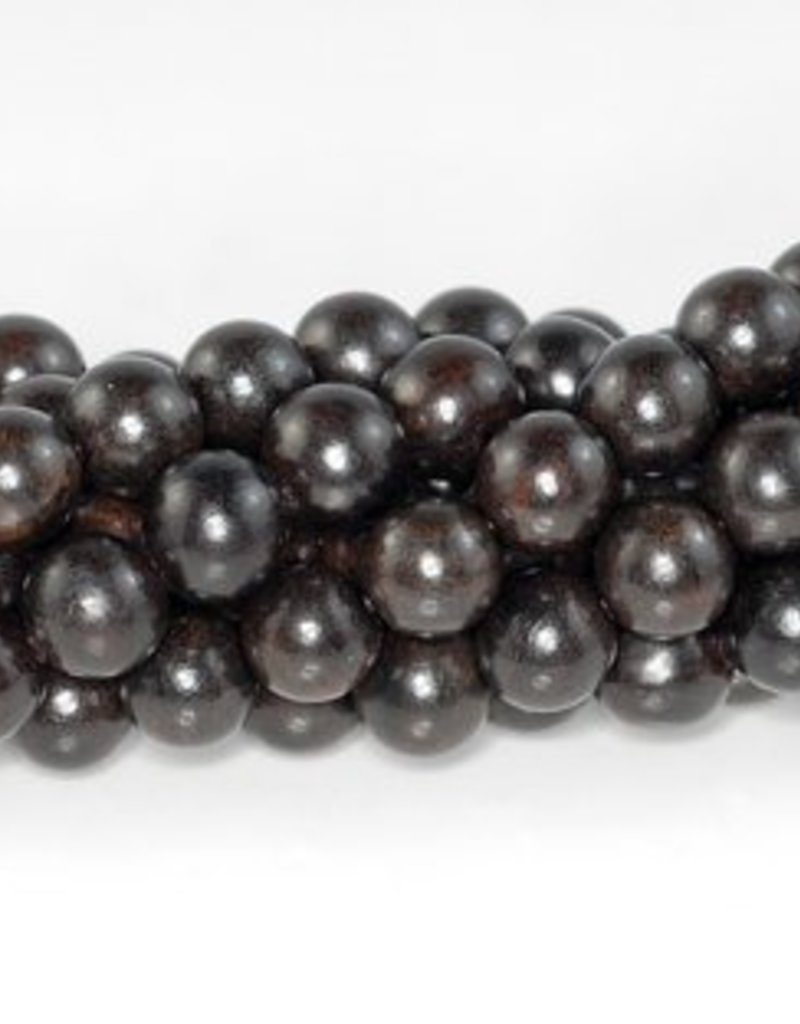 108 PC 6mm Indonesia Ebony Black Sandalwood Beads