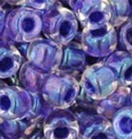 7.5 GM Toho Round 6/0 : Inside-Color Rainbow Crystal/Tanzanite Lined
