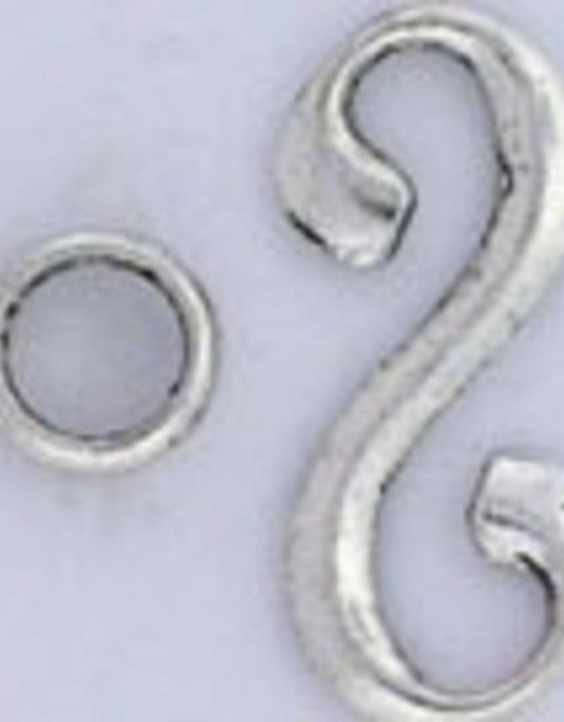 2 Set ASP 34x15mm Swirl Hook Clasp