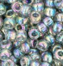 8 GM Toho Round 8/0 : Trans-Rainbow Black Diamond