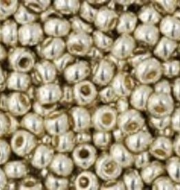9 GM Toho Round 11/0 : Permanent Finish - Galvanized Aluminum