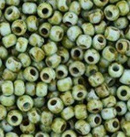 9 GM Toho Round 11/0 : HYBRID Opaque Cornflower Picasso