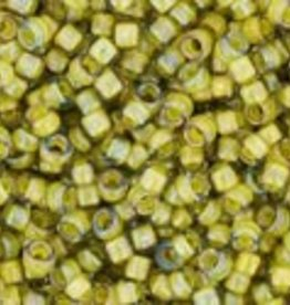 9 GM Toho Round 15/0 : Inside-Color Luster Black Diamond/Opaque Yellow Lined