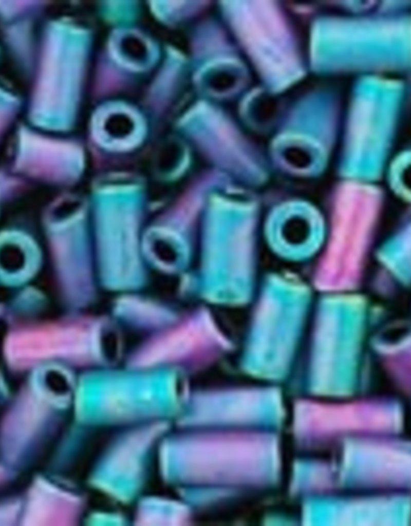 7 GM Toho Bugle #1 3mm  : Matte-Color-Frosted Iris Blue (APX 600 PCS)