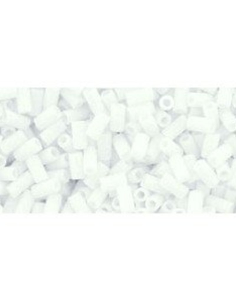 7 GM Toho Bugle #1 3mm : Matte-Color Opaque White (APX 600 PCS)