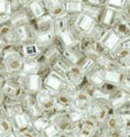 8 GM Toho Cube 1.5mm : Silver-Lined Crystal  (APX 850 PCS)